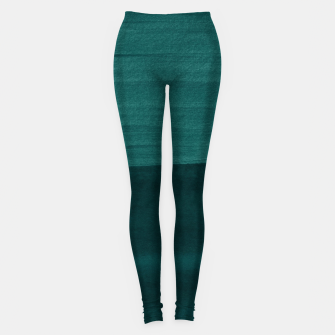 Miniatur Dark Teal Emerald Abstract Minimalism #3 #minimal #ink #decor #art Leggings, Live Heroes