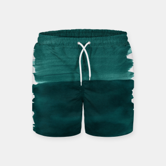 Miniatur Dark Teal Emerald Abstract Minimalism #3 #minimal #ink #decor #art Badeshorts, Live Heroes