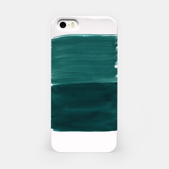 Imagen en miniatura de Dark Teal Emerald Abstract Minimalism #3 #minimal #ink #decor #art iPhone-Hülle, Live Heroes