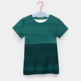 Thumbnail image of Dark Teal Emerald Abstract Minimalism #3 #minimal #ink #decor #art T-Shirt für kinder, Live Heroes