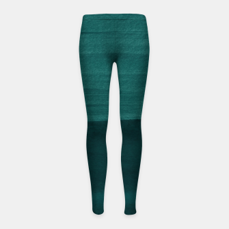 Miniature de image de Dark Teal Emerald Abstract Minimalism #3 #minimal #ink #decor #art Kinder-Leggins, Live Heroes