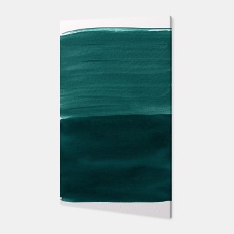 Thumbnail image of Dark Teal Emerald Abstract Minimalism #3 #minimal #ink #decor #art Canvas, Live Heroes