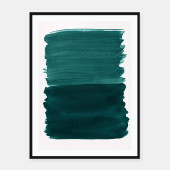 Miniatur Dark Teal Emerald Abstract Minimalism #3 #minimal #ink #decor #art Plakat mit rahmen, Live Heroes