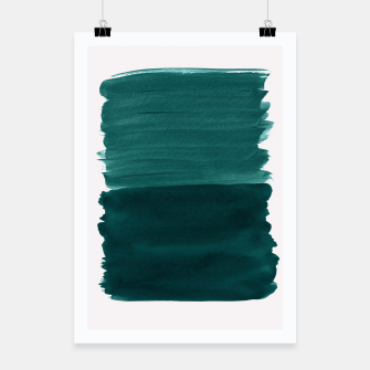 Thumbnail image of Dark Teal Emerald Abstract Minimalism #3 #minimal #ink #decor #art Plakat, Live Heroes