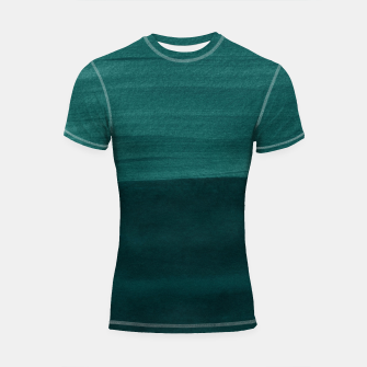 Miniature de image de Dark Teal Emerald Abstract Minimalism #3 #minimal #ink #decor #art Shortsleeve rashguard, Live Heroes