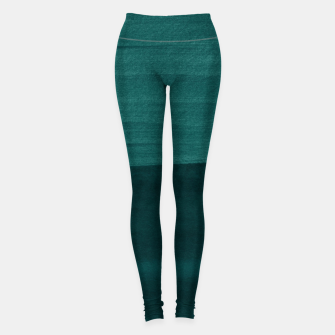 Thumbnail image of Dark Teal Emerald Abstract Minimalism #3 #minimal #ink #decor #art Leggings, Live Heroes