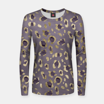 Thumbnail image of Leopard Animal Print Glam #9 #pattern #decor #art  Frauen sweatshirt, Live Heroes