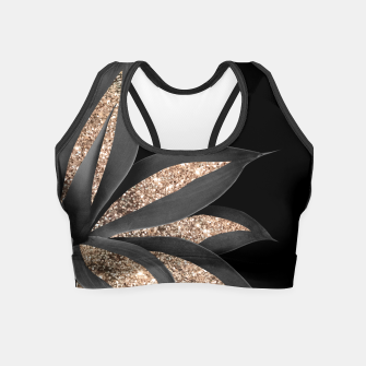 Miniaturka Agave Finesse Glitter Glam #8 #tropical #decor #art  Crop Top, Live Heroes