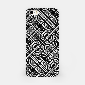 Miniaturka Linear Black and White Ethnic Print iPhone Case, Live Heroes