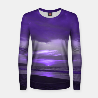 Thumbnail image of Purple Sunset by #Bizzartino Women sweater, Live Heroes
