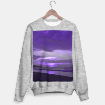 Thumbnail image of Purple Sunset by #Bizzartino Sweater regular, Live Heroes