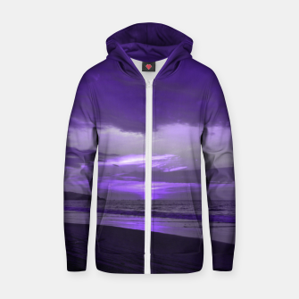 Thumbnail image of Purple Sunset by #Bizzartino Zip up hoodie, Live Heroes