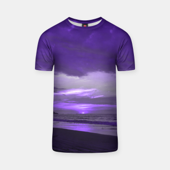 Thumbnail image of Purple Sunset by #Bizzartino T-shirt, Live Heroes