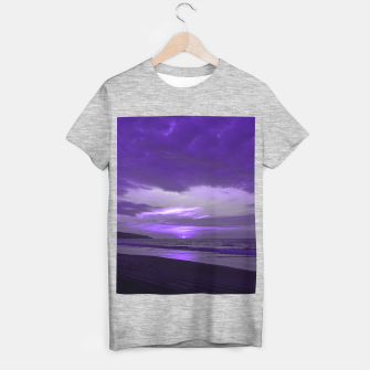 Thumbnail image of Purple Sunset by #Bizzartino T-shirt regular, Live Heroes