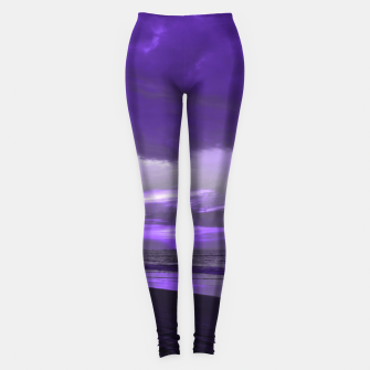 Miniatur Purple Sunset by #Bizzartino Leggings, Live Heroes