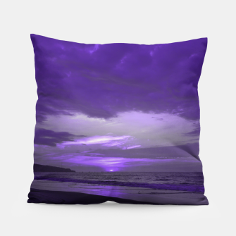 Thumbnail image of Purple Sunset by #Bizzartino Pillow, Live Heroes