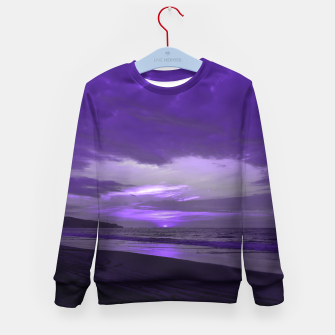 Thumbnail image of Purple Sunset by #Bizzartino Kid's sweater, Live Heroes