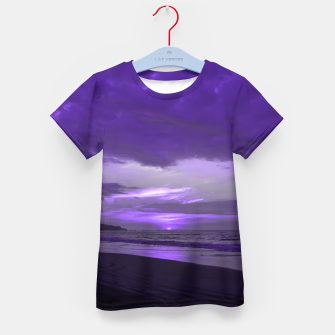 Thumbnail image of Purple Sunset by #Bizzartino Kid's t-shirt, Live Heroes