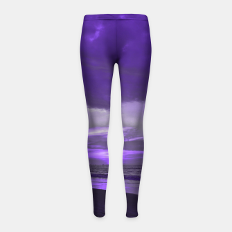Thumbnail image of Purple Sunset by #Bizzartino Girl's leggings, Live Heroes