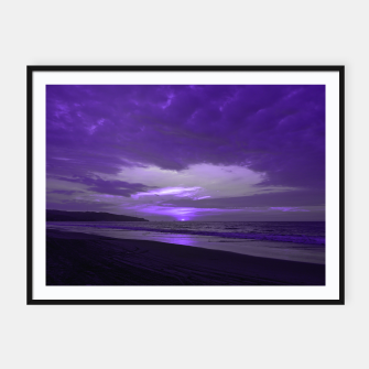 Thumbnail image of Purple Sunset by #Bizzartino Framed poster, Live Heroes