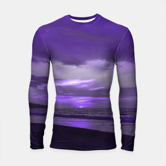 Thumbnail image of Purple Sunset by #Bizzartino Longsleeve rashguard , Live Heroes