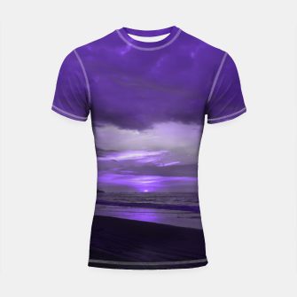 Thumbnail image of Purple Sunset by #Bizzartino Shortsleeve rashguard, Live Heroes