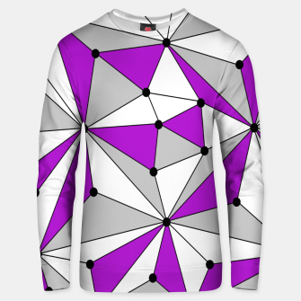 Thumbnail image of Abstract geometric pattern - gray and purple. Unisex sweater, Live Heroes