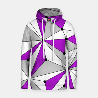 Thumbnail image of Abstract geometric pattern - gray and purple. Hoodie, Live Heroes
