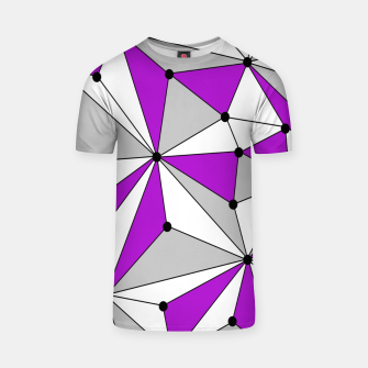 Thumbnail image of Abstract geometric pattern - gray and purple. T-shirt, Live Heroes