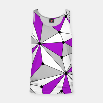 Thumbnail image of Abstract geometric pattern - gray and purple. Tank Top, Live Heroes