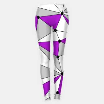 Miniatur Abstract geometric pattern - gray and purple. Leggings, Live Heroes