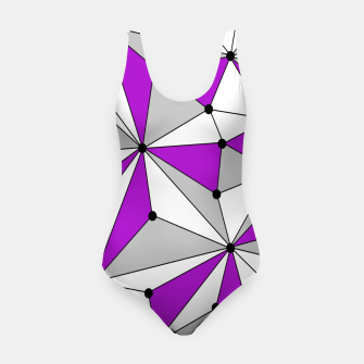 Miniatur Abstract geometric pattern - gray and purple. Swimsuit, Live Heroes