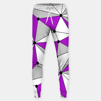 Miniaturka Abstract geometric pattern - gray and purple. Sweatpants, Live Heroes