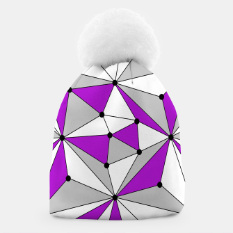 Imagen en miniatura de Abstract geometric pattern - gray and purple. Beanie, Live Heroes