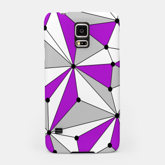 Imagen en miniatura de Abstract geometric pattern - gray and purple. Samsung Case, Live Heroes