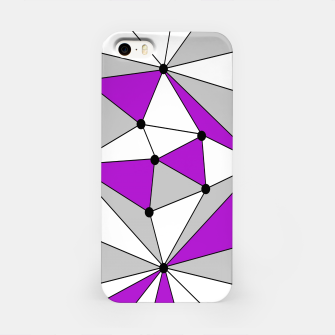 Imagen en miniatura de Abstract geometric pattern - gray and purple. iPhone Case, Live Heroes