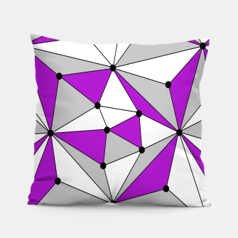 Thumbnail image of Abstract geometric pattern - gray and purple. Pillow, Live Heroes