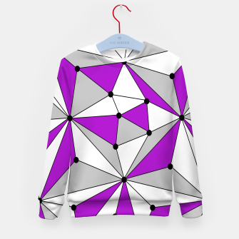 Miniatur Abstract geometric pattern - gray and purple. Kid's sweater, Live Heroes