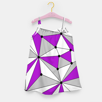 Miniaturka Abstract geometric pattern - gray and purple. Girl's dress, Live Heroes