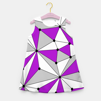 Miniaturka Abstract geometric pattern - gray and purple. Girl's summer dress, Live Heroes