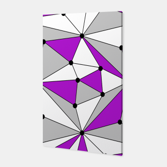 Miniaturka Abstract geometric pattern - gray and purple. Canvas, Live Heroes