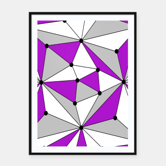 Miniaturka Abstract geometric pattern - gray and purple. Framed poster, Live Heroes
