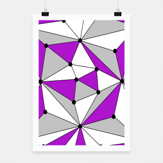 Imagen en miniatura de Abstract geometric pattern - gray and purple. Poster, Live Heroes
