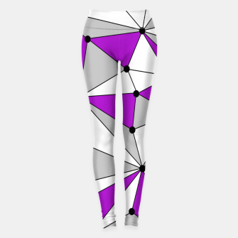 Thumbnail image of Abstract geometric pattern - gray and purple. Leggings, Live Heroes