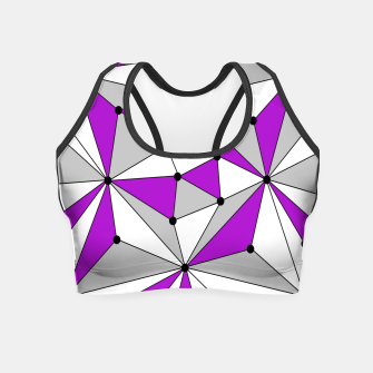 Thumbnail image of Abstract geometric pattern - gray and purple. Crop Top, Live Heroes
