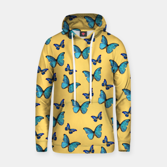 Miniaturka Blue Yellow Butterfly Glam #1 #pattern #decor #art  Kapuzenpullover, Live Heroes