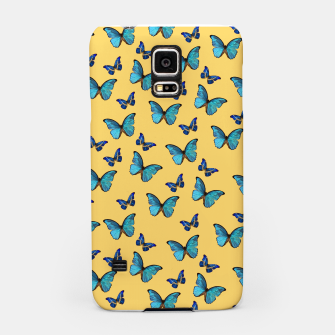 Blue Yellow Butterfly Glam #1 #pattern #decor #art  Handyhülle für Samsung obraz miniatury