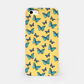 Blue Yellow Butterfly Glam #1 #pattern #decor #art  iPhone-Hülle obraz miniatury