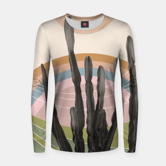 Miniaturka Cactus in the Desert #2 #tropical #wall #art Frauen sweatshirt, Live Heroes