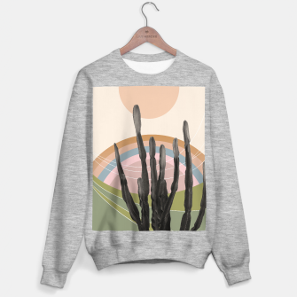 Cactus in the Desert #2 #tropical #wall #art Sweatshirt regulär obraz miniatury